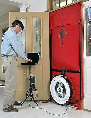 Using a blower door and manometer, we can determine the level of leakage occuring in your building and determine appropriate courses of action
